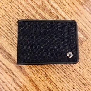 Lee RFID black denim wallet/money clip